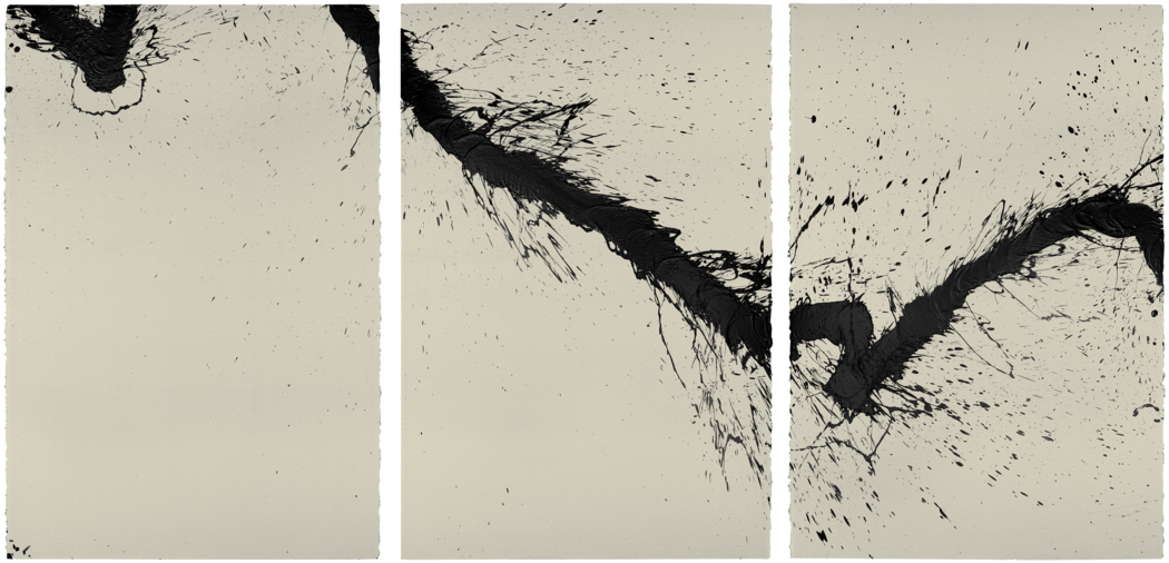 Serie Walking - painting, Triptyque n° 07