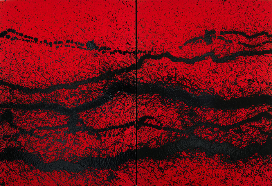 Walking painting/ Rouge