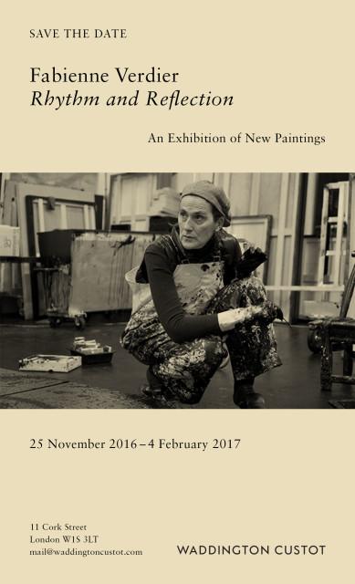 Fabienne Verdier - Fabienne verdier, solo exhibition, Rhythm and reflection