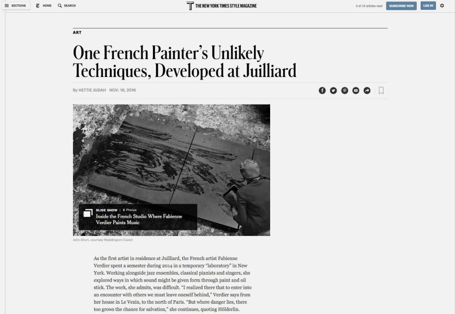 Fabienne Verdier - T The New York Times Style Magazine