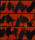 Elliott Carter, Installation triptyque rouge