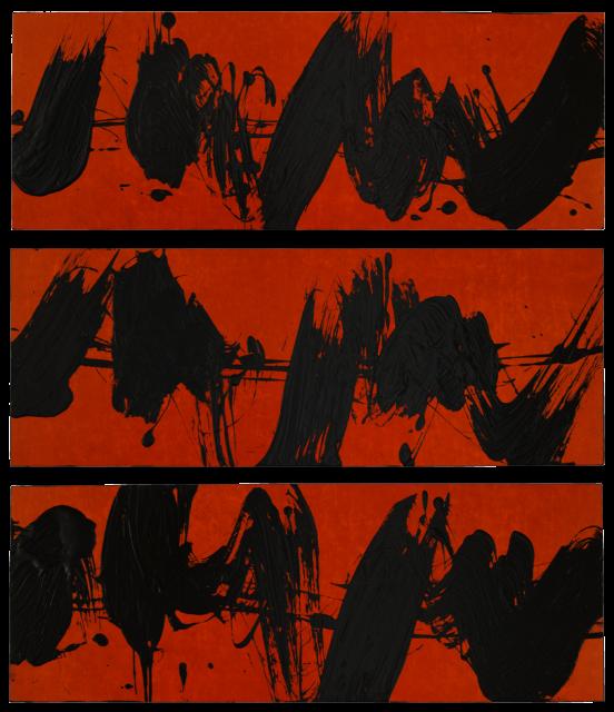 Fabienne Verdier - Elliott Carter, Installation triptyque rouge