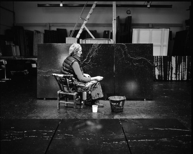 Fabienne Verdier in her studio