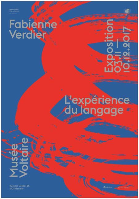 Fabienne Verdier - Affiche_ExperienceDuLangage_MuseeVoltaire