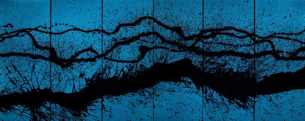 Fabienne Verdier - Fabienne Verdier, Walking Painting in Blue