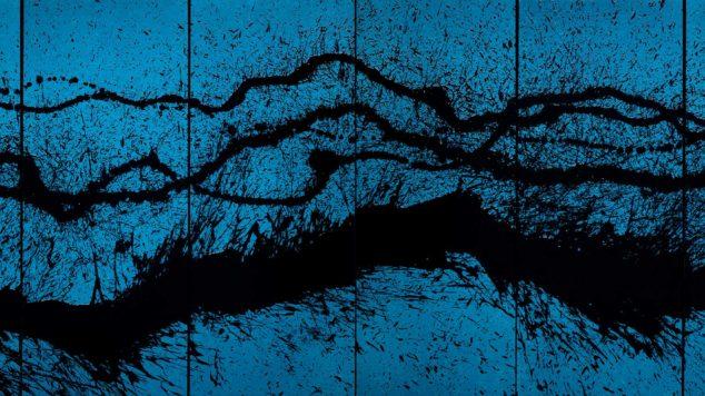 Fabienne Verdier, Walking Painting in Blue