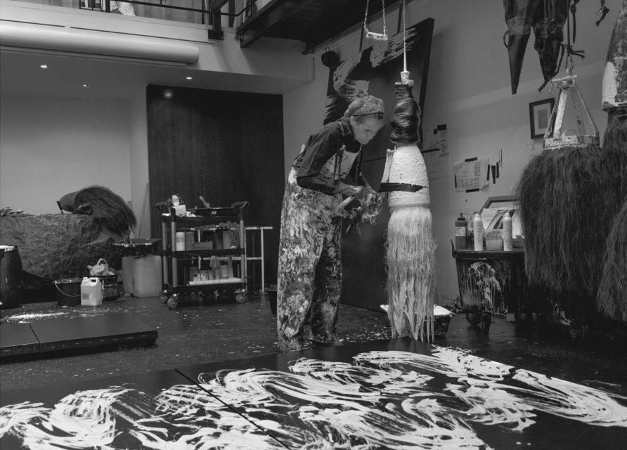 Fabienne Verdier -  Fabienne Verdier in her studio