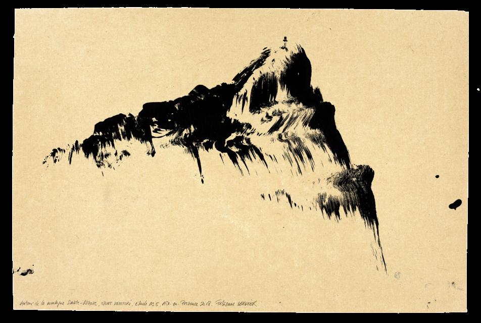 Autour de la montagne Sainte-Victoire, Mont Venturi, étude n° 05
