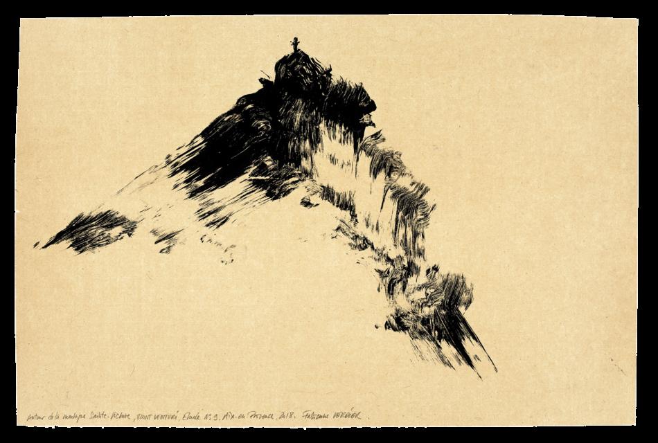 Autour de la montagne Sainte-Victoire, Mont Venturi, étude n° 09