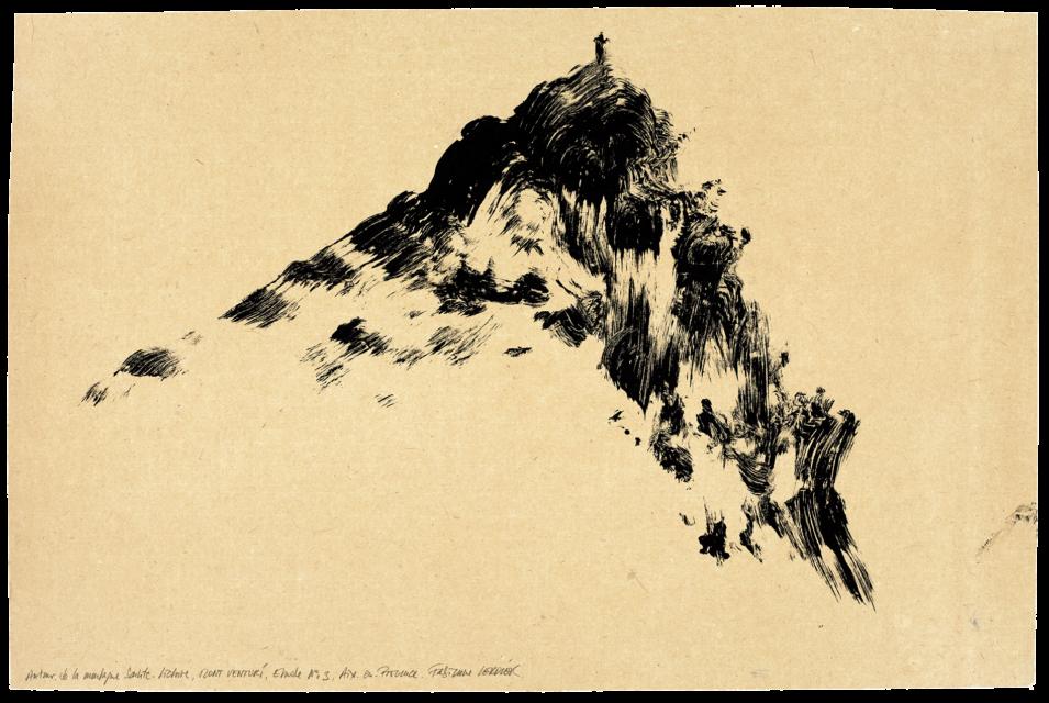 Autour de la montagne Sainte-Victoire Mont Venturi, étude n°03