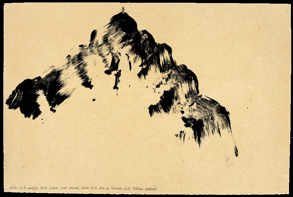 Autour de la montagne Sainte-Victoire Mont Venturi, étude n°07