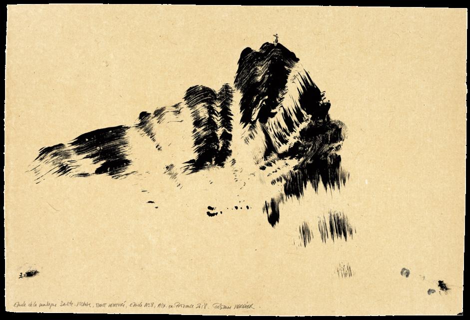 Autour de la montagne Sainte-Victoire Mont Venturi, étude n°08