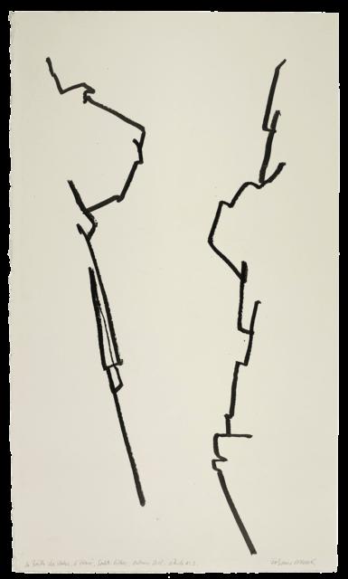 La Brèche des moines, prieure Sainte-Victoire, étude n°03
