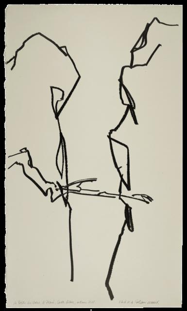 La Brèche des moines, prieuré Sainte-Victoire, étude n°04