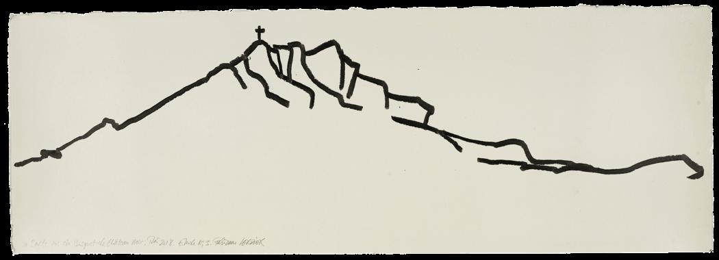 La sainte vue du bosquet de château noir, étude n°03