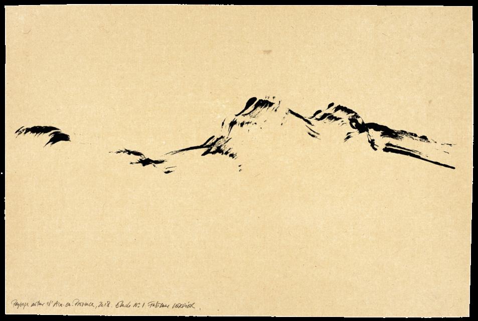 Paysage autour d'Aix-en-Provence, étude n°01