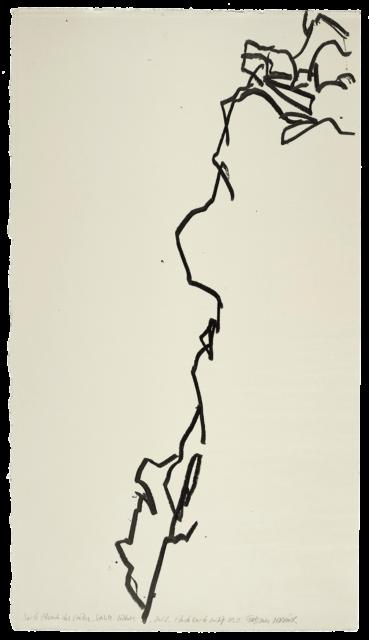 Sur le chemin des crêtes, Sainte-Victoire, étude n°02