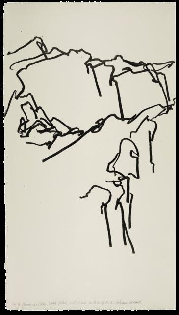 Sur le chemin des crêtes, Sainte-Victoire, étude n°03