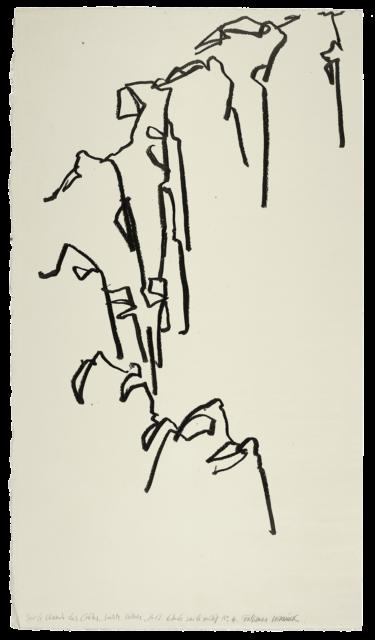 Sur le chemin des crêtes, Sainte-Victoire, étude n°04