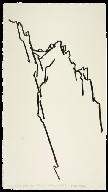 Sur le chemin des crêtes, Sainte-Victoire, étude n°06
