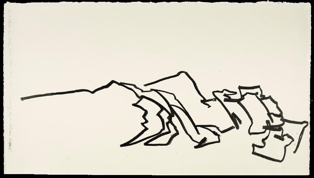 Sur le chemin des crêtes, Sainte-Victoire, étude n°09