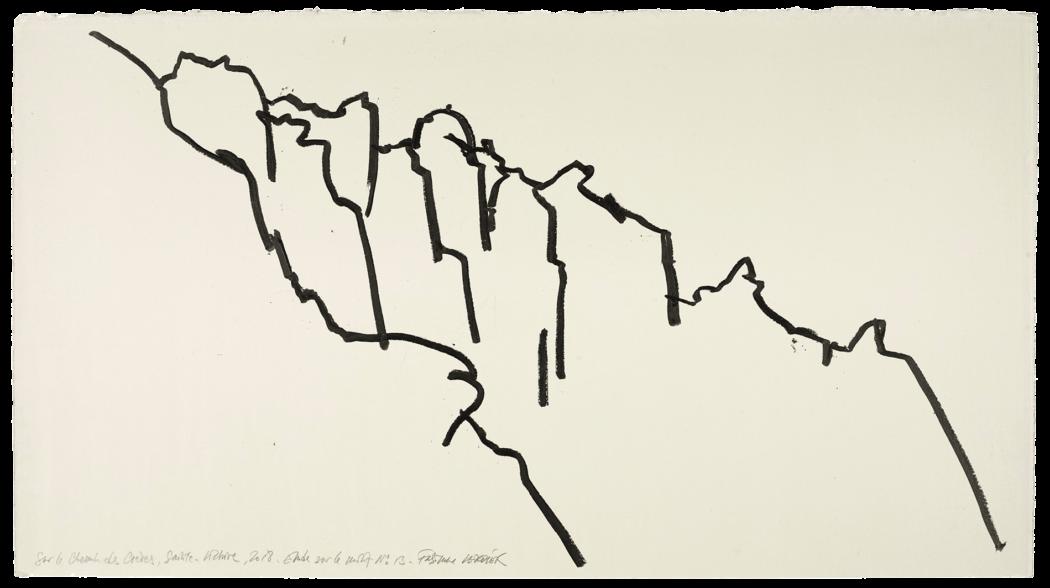 Sur le chemin des crêtes, Sainte-Victoire, étude n°13