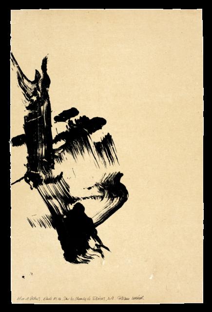 Arbre et rocher, sur les chemins de Bibémus, étude n°14